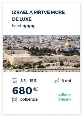 Izrael a Mŕtve more De Luxe